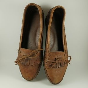Naturalizer Leather Loafers with Ties Sz 8B